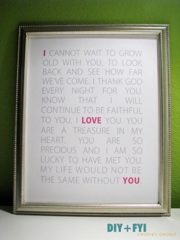 Diy Love Letters Subway Art Diy Fyi Creatively Created